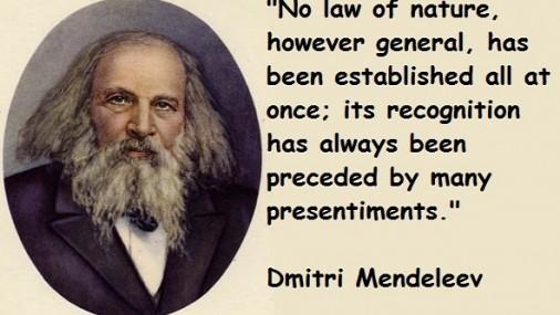 20 ianuarie – Dmitri Mendeleev