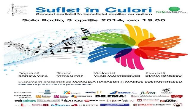 Suflet în culori – concert caritabil pentru copiii autişti