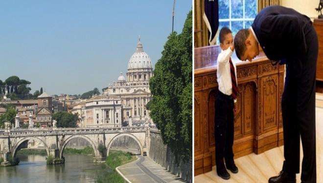 Preşedintele Statelor Unite în vizită la Papa de la Roma