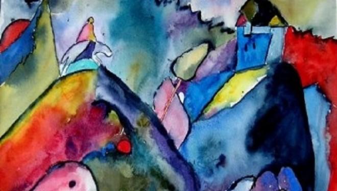 Pictură cu acuarele şi… sare, cuburi de gheaţă colorată în loc de pensule?