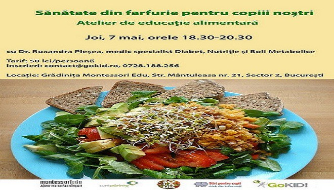 Sănătate din farfurie pentru copii – Atelier de educație alimentară