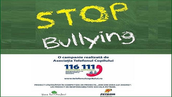 """Sute de cazuri de bullying  în România. """"Fii prietenos, nu răutăcios!"""""""