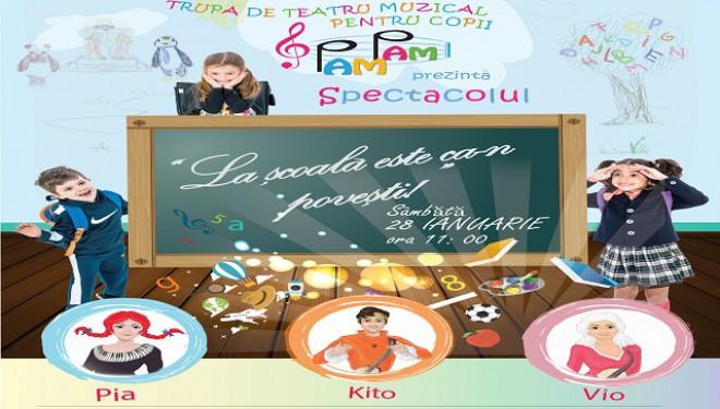 Şcoala incepe cu zȃmbetul pe buze, alǎturi de trupa PAM PAM si prietenii sǎi!