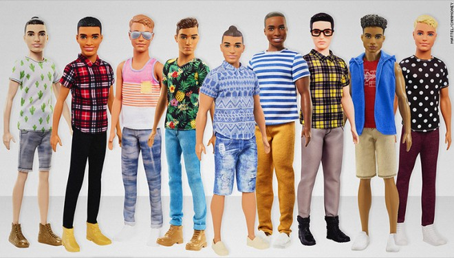 Ken, iubitul lui Barbie, primeşte nu mai puţin de 15 noi înfăţişări