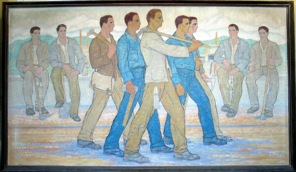 H. Mattis Teutsch-Abataj 140 x 246 cm custodie Primaria Vulcan, custodie Muzeul de Arta Brasov