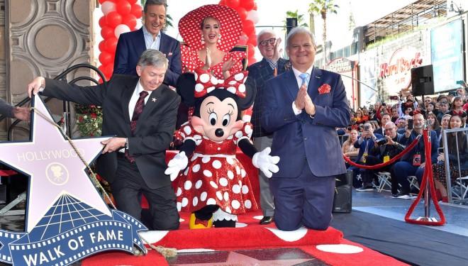 Minnie Mouse primește o stea pe bulevardul Walk of Fame din Hollywood
