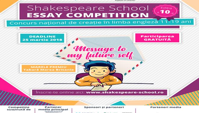 S-a dat STARTUL inscrierilor la Shakespeare School Essay Competition!