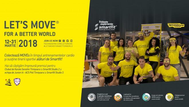 Timișorenii sunt invitați să facă mișcare în cadrul campaniei Let's Move for a Better World
