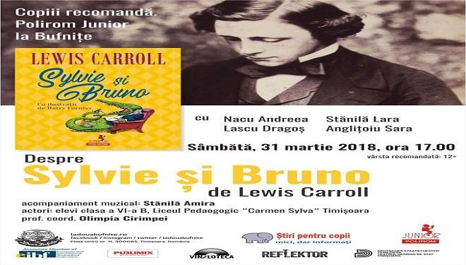 Copiii recomandă: și Bruno de Lewis Carrol, eveniment pentru copii la Librăria La Două Bufnițe