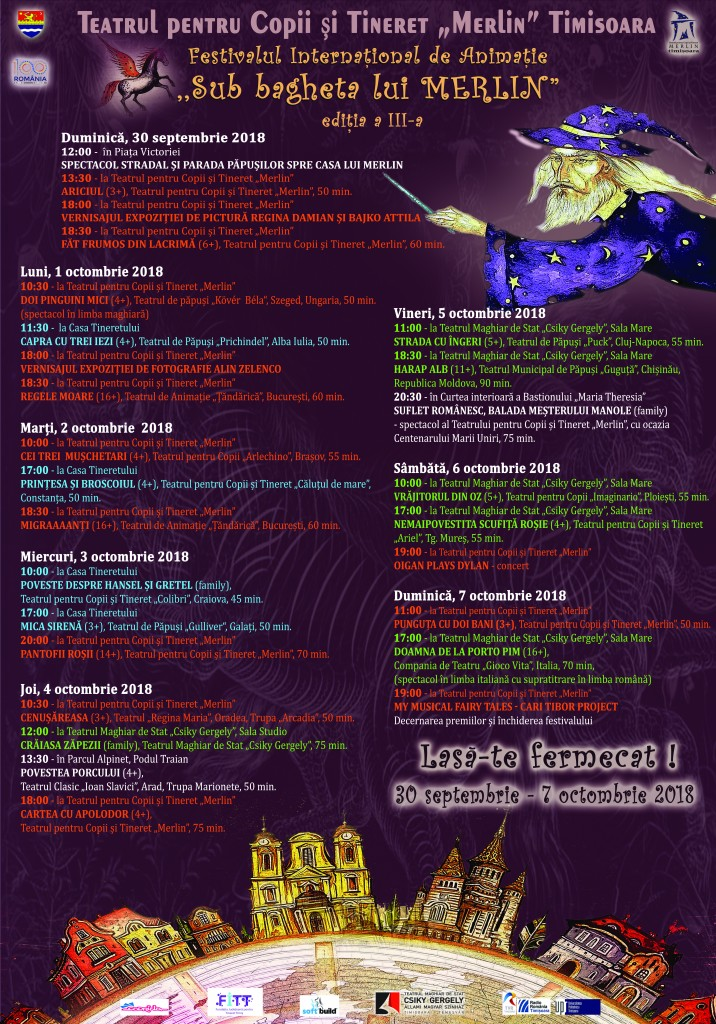 afis Festival Sub bagheta lui Merlin 2018