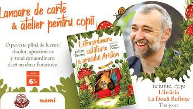 Extraordinara călătorie a ariciului Ariston, de Iulian Tănase. Lansare de carte și atelier pentru copii, la Bufnițe la Timișoara