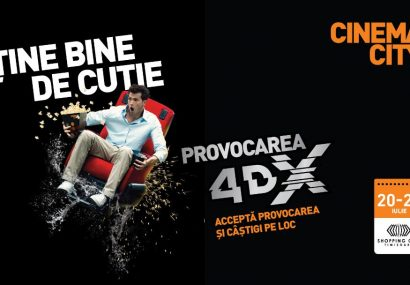 Provocarea 4DX ajunge la Shopping City Timișoara!