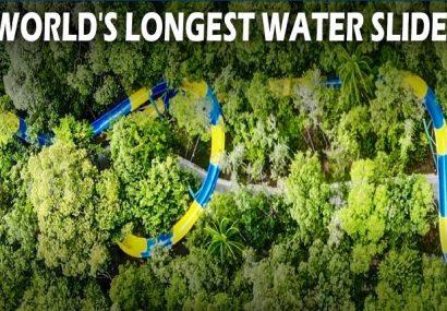 Sunteți în căutare de adrenalină? Cel mai mare tobogan acvatic din lume trece prin… junglă