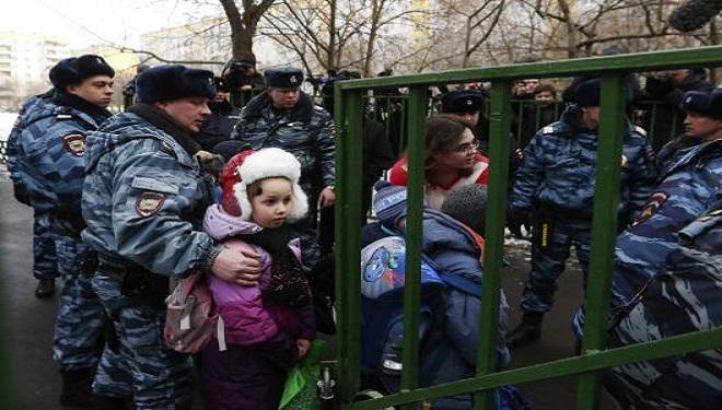 Ostatici la o şcoală din Moscova