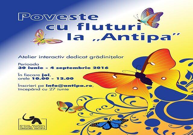 Muzeul Antipa spune o poveste cu fluturi piticilor de grădiniță