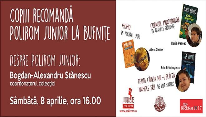 Copiii recomandă Polirom Junior la Bufnițe