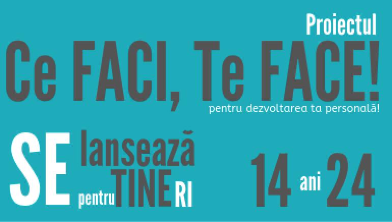 Ce FACI, Te FACE! – ateliere gratuite pentru copii și tineri, la Timișoara