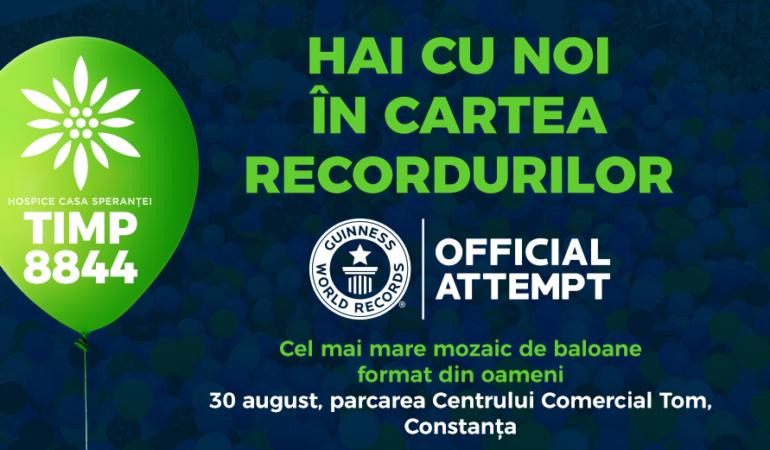 La Constanța – Cel mai mare mozaic de baloane format din oameni