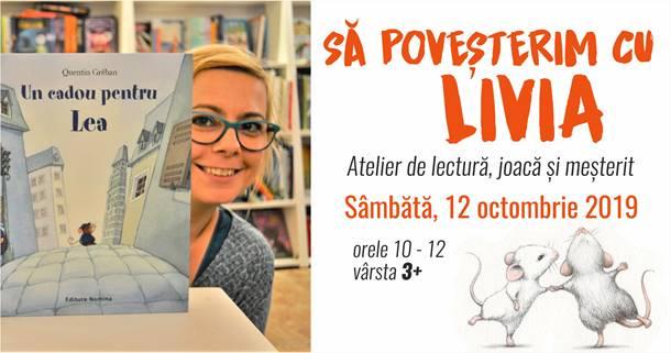 Să poveșterim cu Livia! Atelier de povestit, citit și… ghicit, la Bufnițe