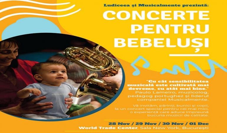 Începe seria concertelor pentru bebeluşi!