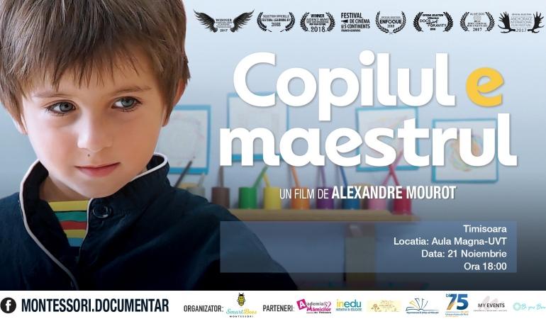"""Copilul e maestrul"" la Montessori"