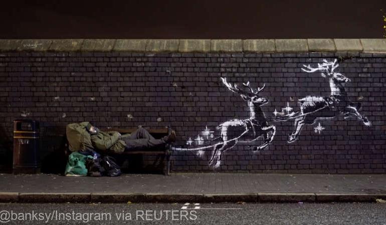 Unde a apărut ultima lucrare a lui Banksy