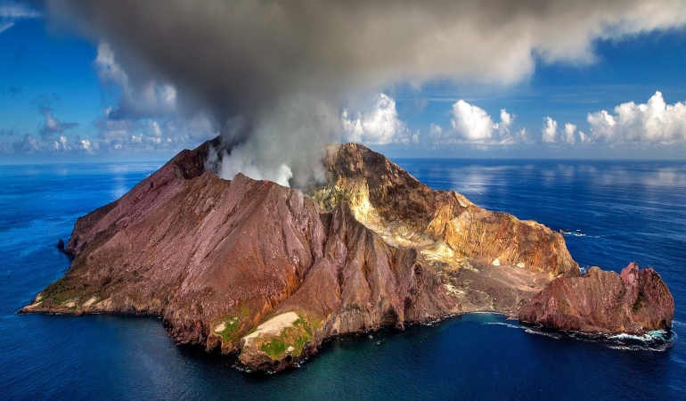 Un vulcan a erupt în Noua Zeelandă
