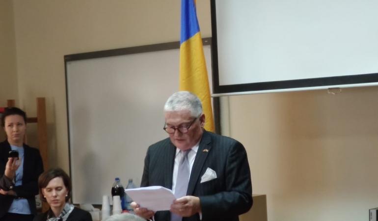 Ambasadorul Americii s-a întâlnit cu elevii de liceu la Timișoara