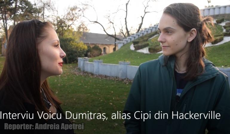 """INTERVIU EXCLUSIV. Voicu Dumitraș, alias Cipi din Hackerville: """"Să înveți la școală și să te dedici pentru că școala este singura opțiune sigură."""""""