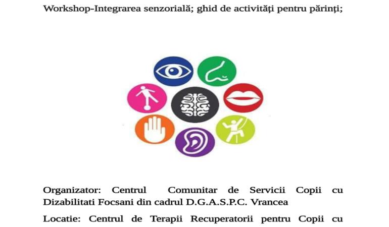 Focșani : Integrarea senzorială – ghid de activități pentru părinți