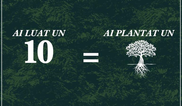 Nota 10 din sesiune – un pom plantat. Campanie inedită la o facultate clujeană.