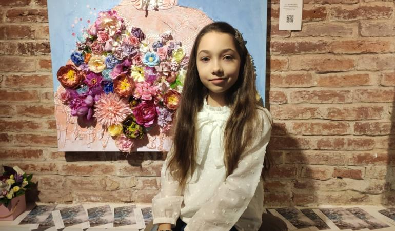 Maia, mica impresionistă. Fetița pictor, un model pentru copii