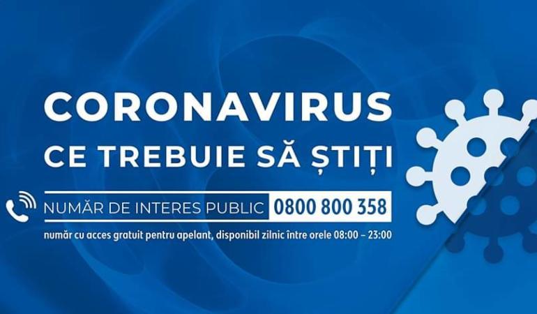Numărul de telefon la care aflați totul despre coronavirus