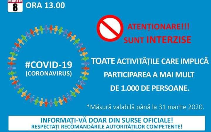 Guvernul ia măsuri radicale în toată țara din cauza coronavirusului. La Timișoara se va analiza posibilitatea suspendării cursurilor
