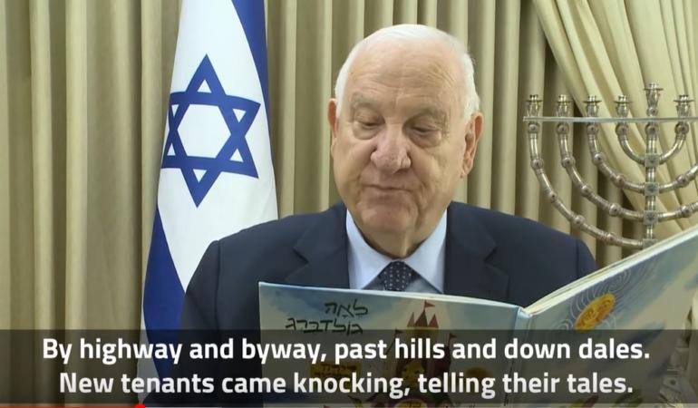 CAMPANIA ȘTIRI POZITIVE. Președintele Israelului citește povești online