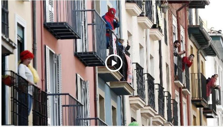 CAMPANIA ȘTIRI POZITIVE. Dovadă de empatie – copiii din Spania cântă pe balcoane