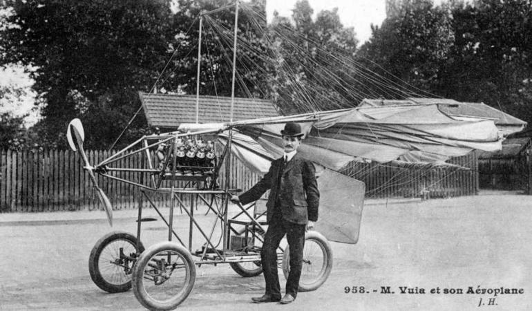 Românii au schimbat istoria aviației mondiale. Primul avion care s-a ridicat de la sol, conceput de Traian Vuia
