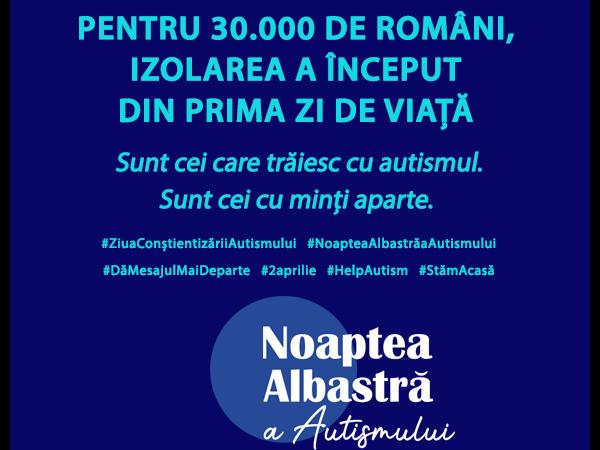 România se iluminează în albastru pentru autism