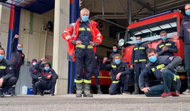 CAMPANIA ȘTIRI POZITIVE. Pompierii spanioli au transmis un mesaj pentru toți copiii izolați