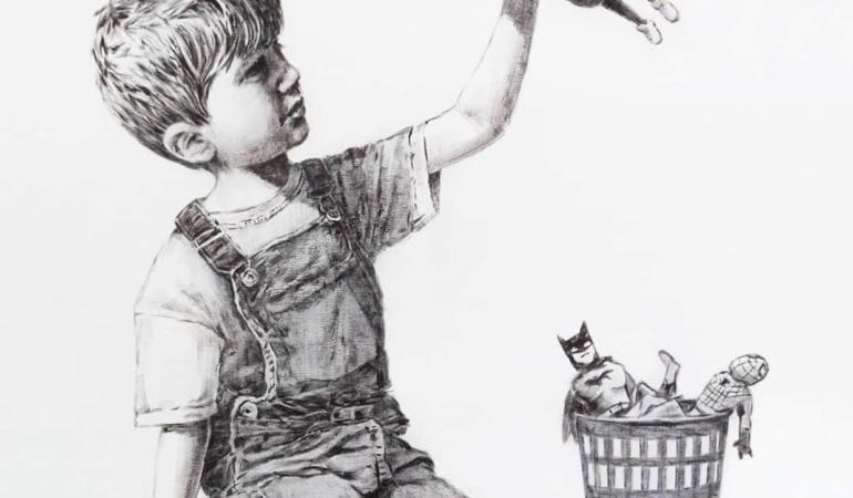 Unde a fost expusă ultima lucrare făcută de Banksy. Cadre medicale – super-eroi