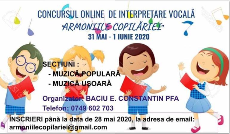 Armoniile copilăriei, concurs muzical online pentru copii și tineri