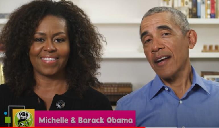 Michelle și Barack Obama au citit împreună povești copiilor pe internet