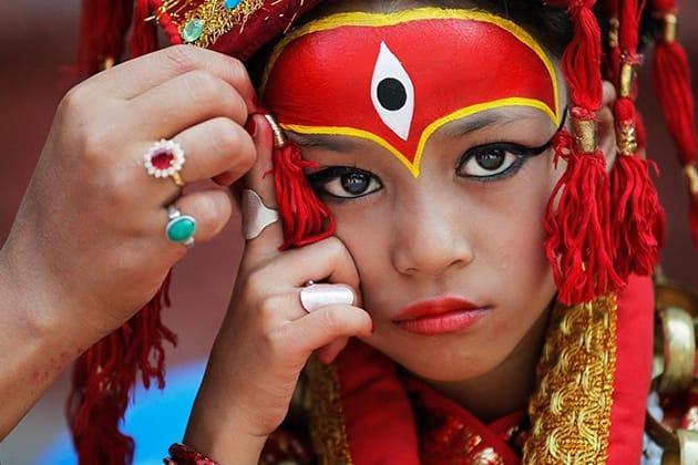 Kumari – o zeiță într-un corp de fetiță