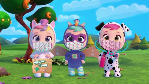 O firmă produce jucării cu mască pentru o cauză nobilă