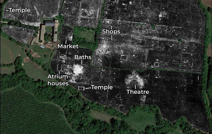 Descoperirea incredibilă a unui oraș roman cu ajutorul unui radar