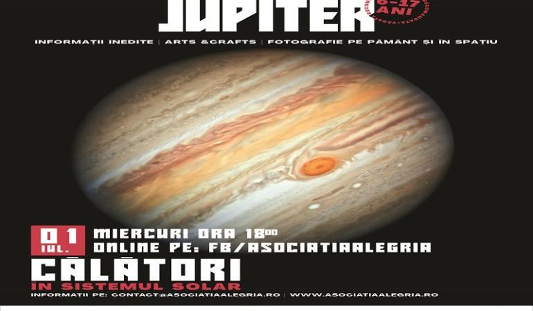 Călători în Sistemul solar – Jupiter. Invitație pentru copiii din Cluj