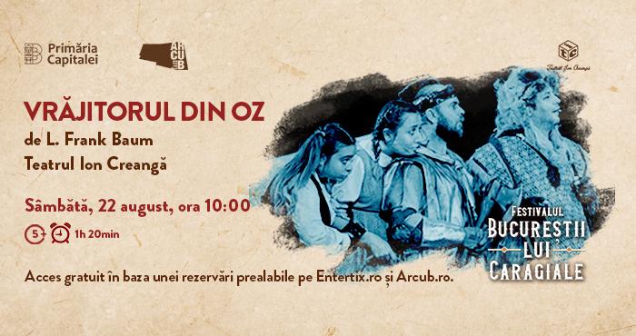 Spectacole pentru copii la Festivalului Bucureștii lui Caragiale