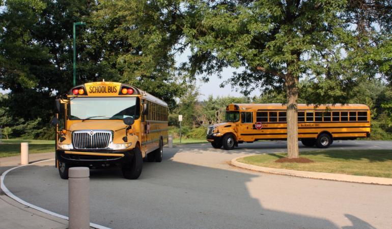 Microbuzele școlare vor fi oprite în continuare în trafic pentru verificări