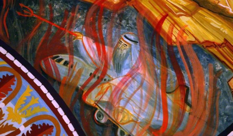Cum a ajuns Osama Bin Laden într-o pictură religioasă