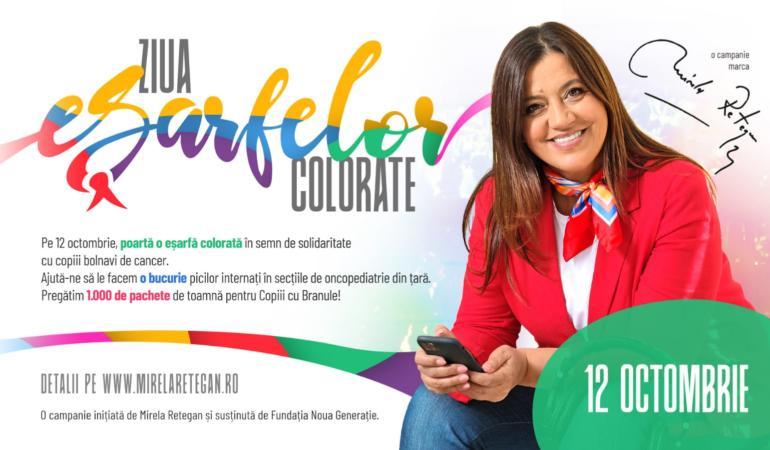 Ziua Eșarfelor Colorate – Gașca  Zurli la Timișoara aduce bucurii pentru copiii din spitale